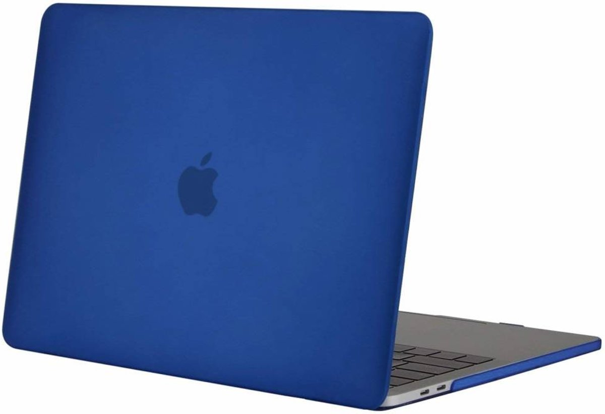 Macbook Air 13 inch 2018 - Clip-On Hard Case - Donker Blauw