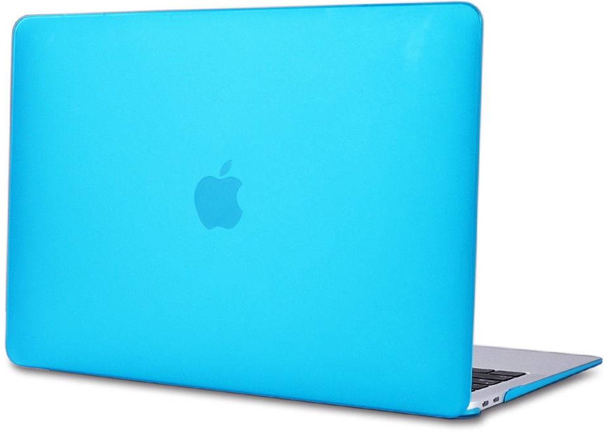 Macbook Air 13 inch 2018 - Clip-On Hard Case - Licht Blauw