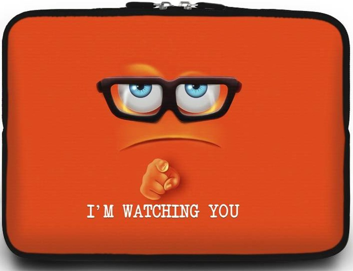 Macbook en Laptop sleeve - 13.3 inch - Im Watching You