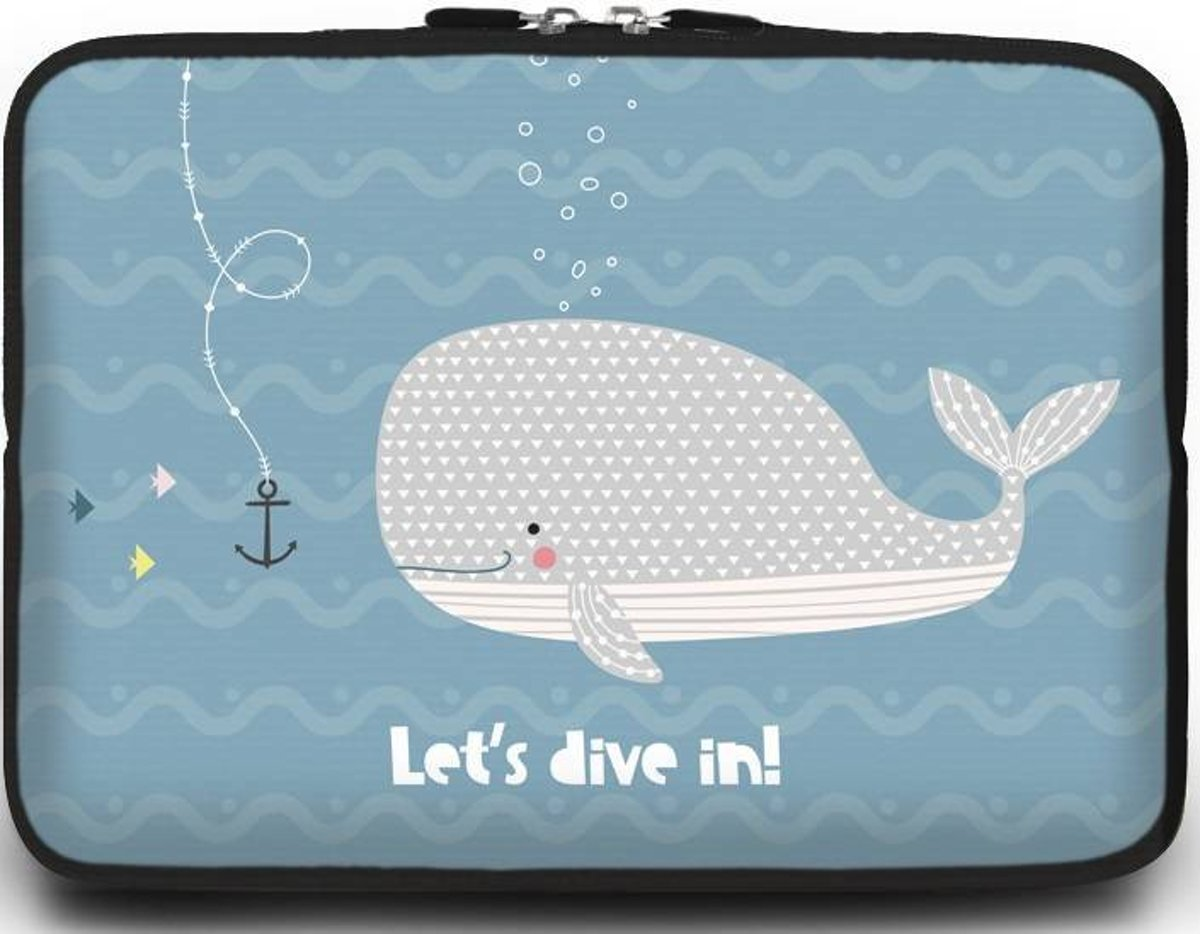 Universele Laptop Sleeve - 15.6 inch - Lets Dive In