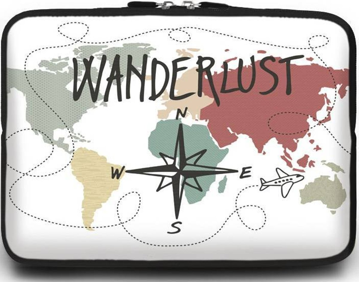 Universele Laptop Sleeve - 15.6 inch - Wanderlust