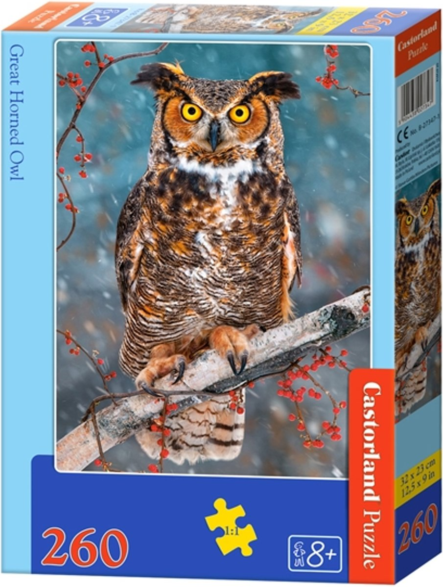 Great Horned Owl - 260 stukjes
