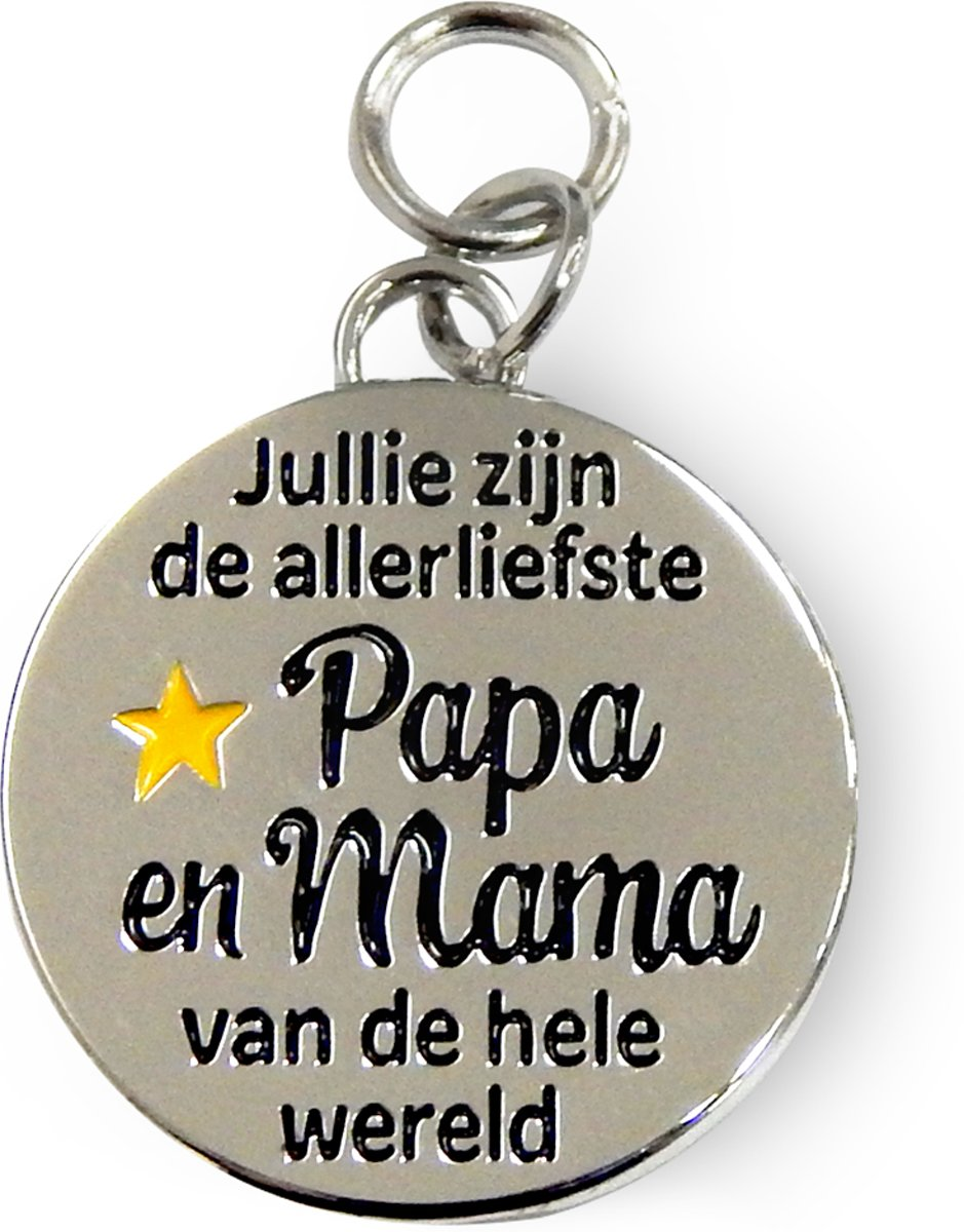 Charms for you - Bedeltje - Papa & mama