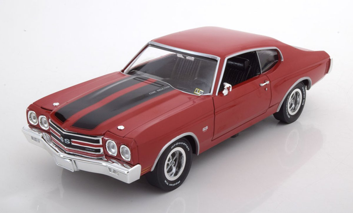Chevrolet Chevelle SS 1970 Rood 1-18 Ertl Autoworld Limited 1002 Pieces