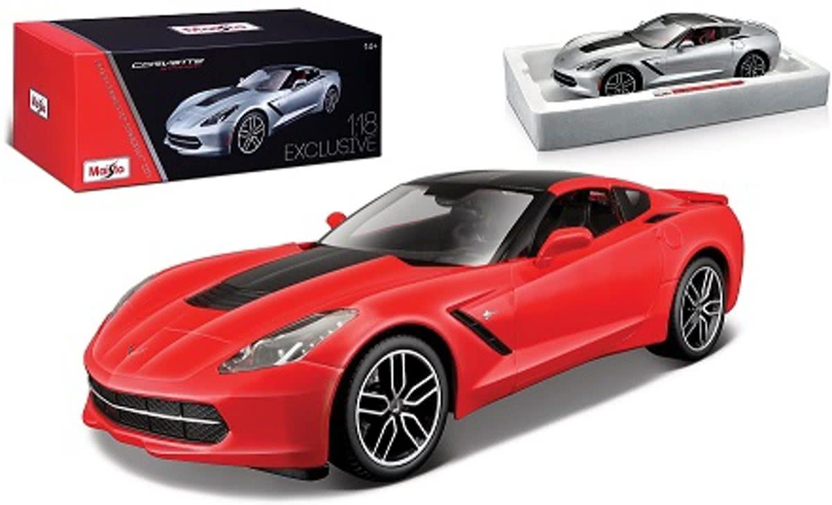 Chevrolet Corvette C7 Stingray 2014 Z51 Rood 1:18 Maisto Exclusive Edition