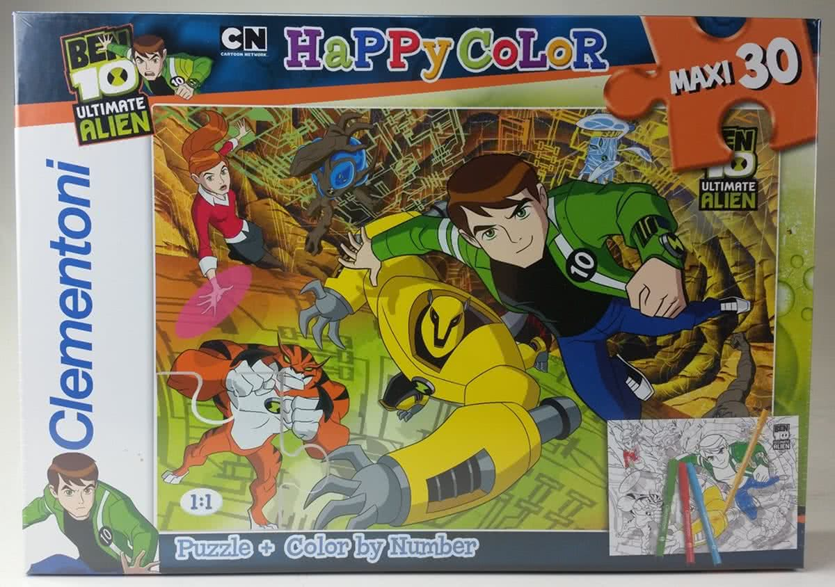 Ben 10 Ultimate Alien - Clementoni Happy Color Maxi puzzel - 30 stukjes