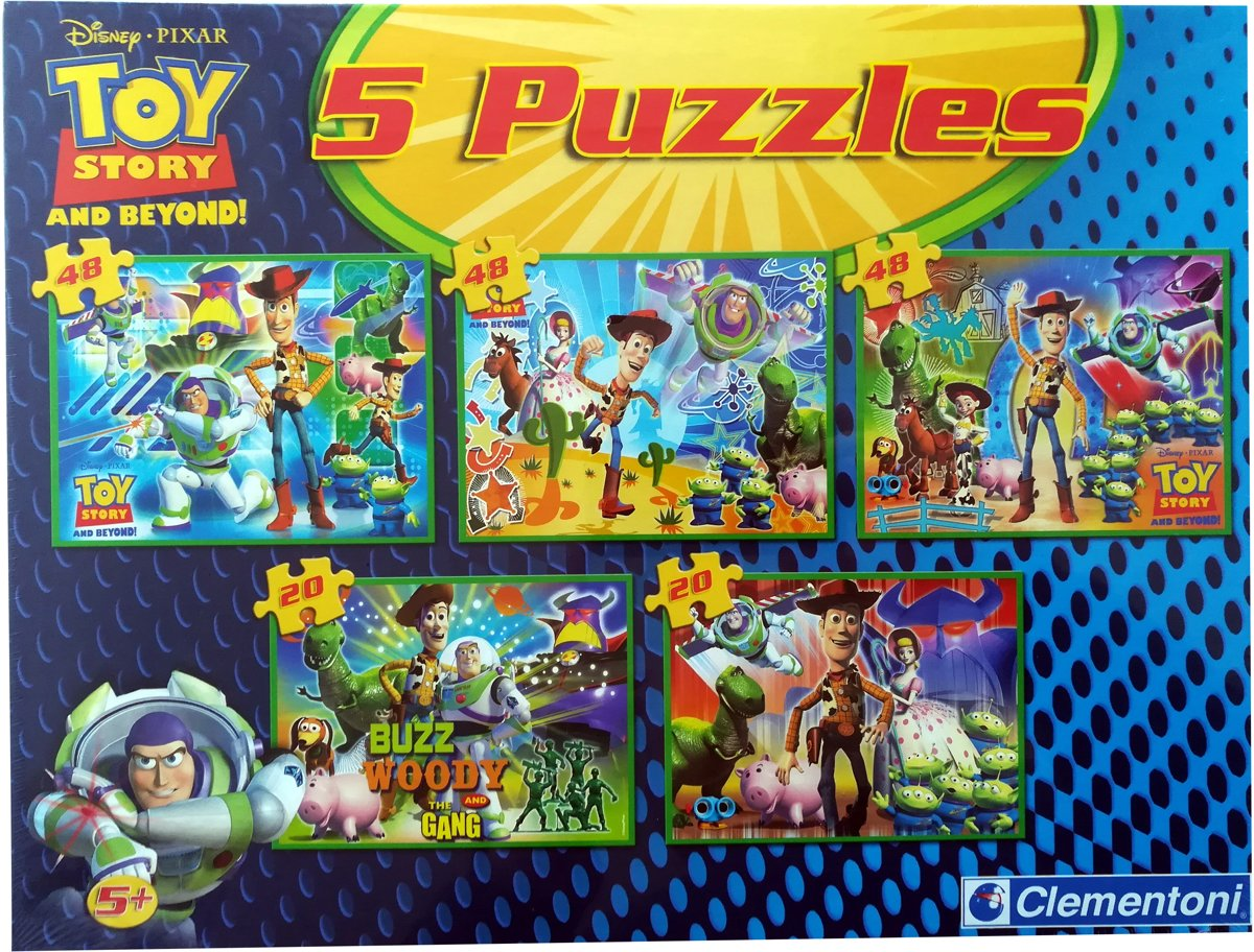 Clementoni - Disney Toy Story - 5 in 1 Puzzel