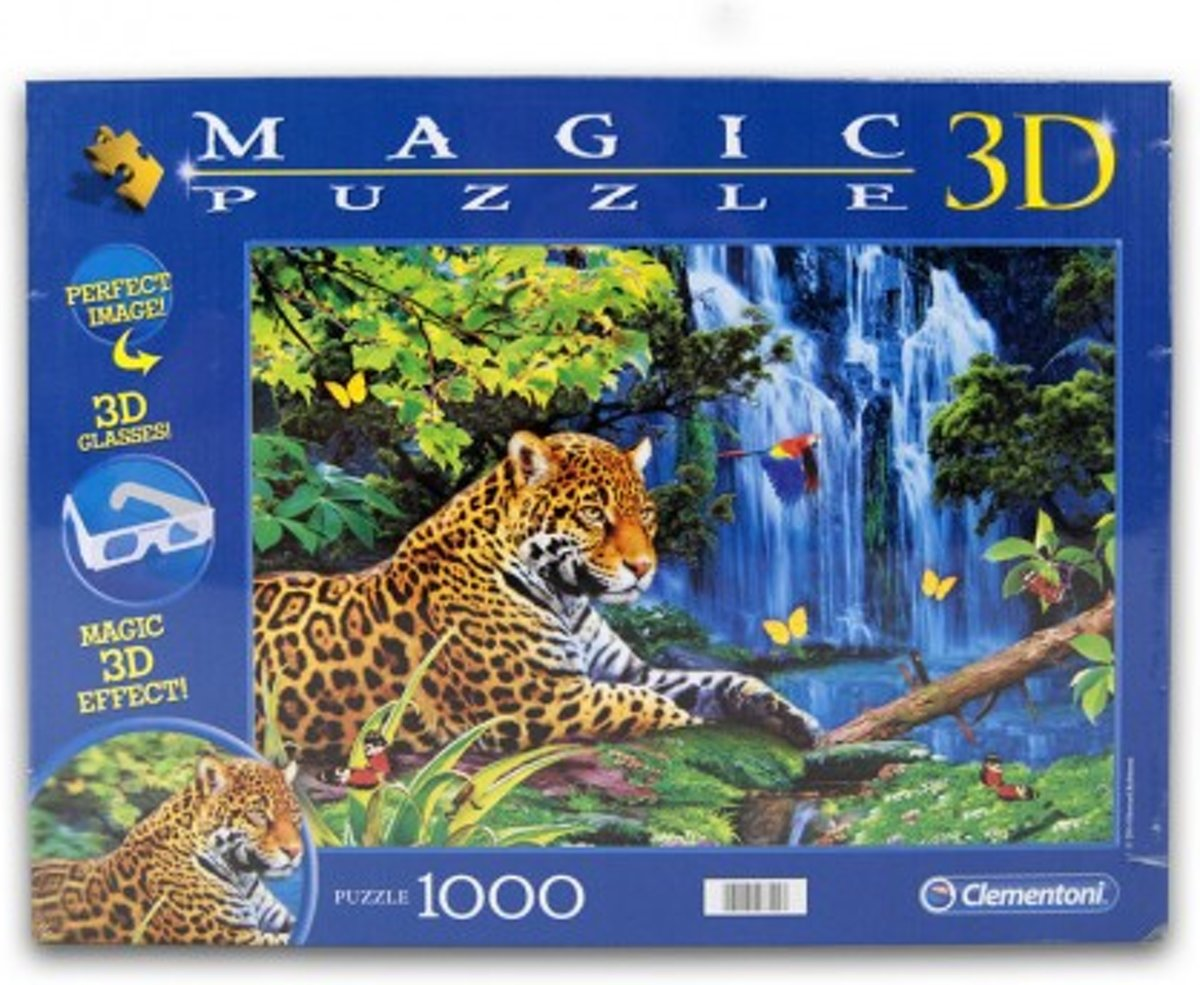 Clementoni 3D Magic Puzzel - Jaguar Jungle - 1000 Stukjes