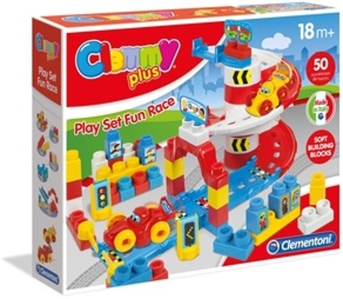 Clementoni Clemmy Plus Play Set- Fun Race Bouwpakket building toy