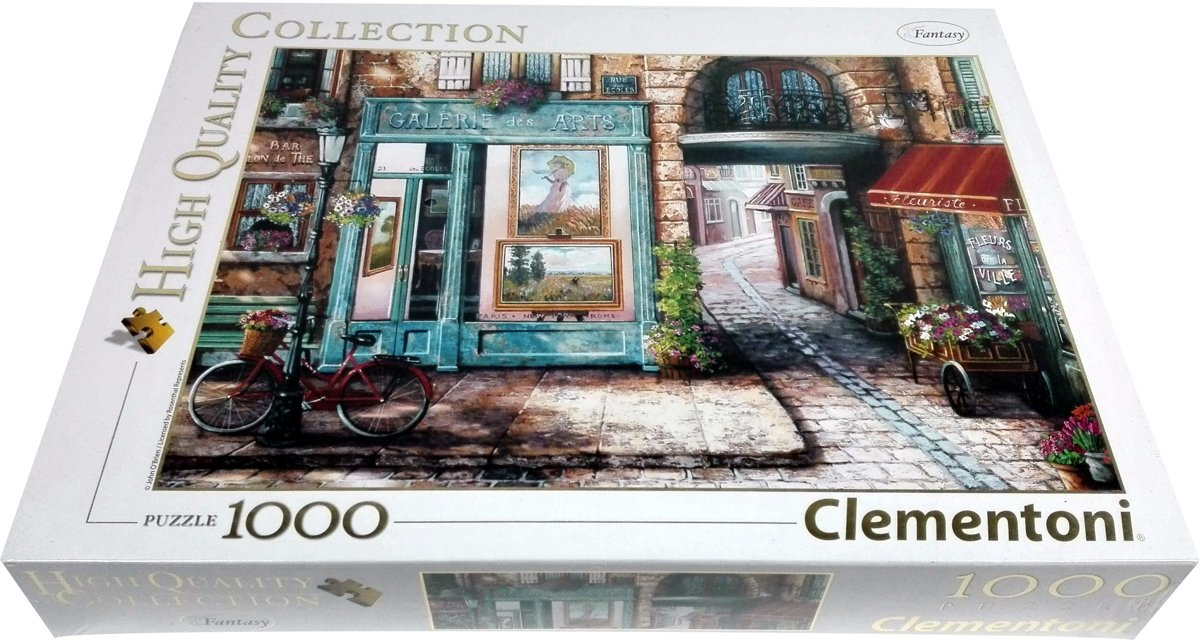 Clementoni High Quality Collection Puzzel - 1000 stukjes - Galeries des Arts