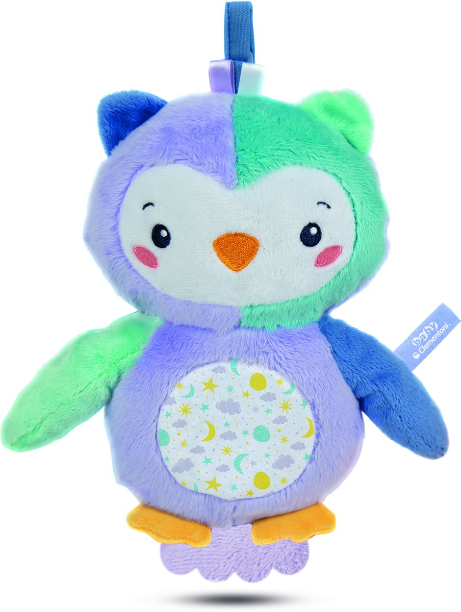 Knuffeluil Play With Me Goodnight 24 Cm Blauw/paars
