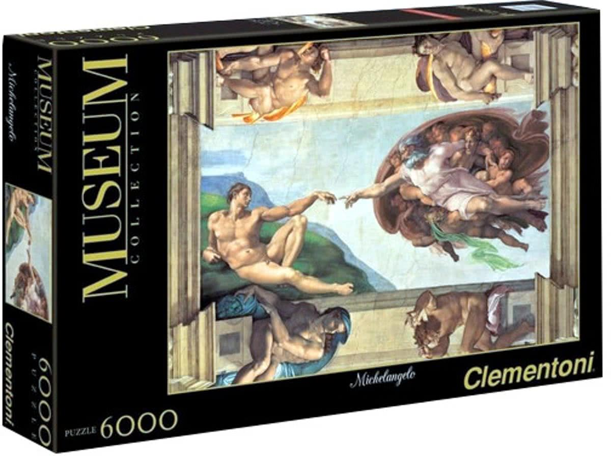 Clementoni Museum Collection - Michelangelo - Schepping van Adam - 6000 Stukjes