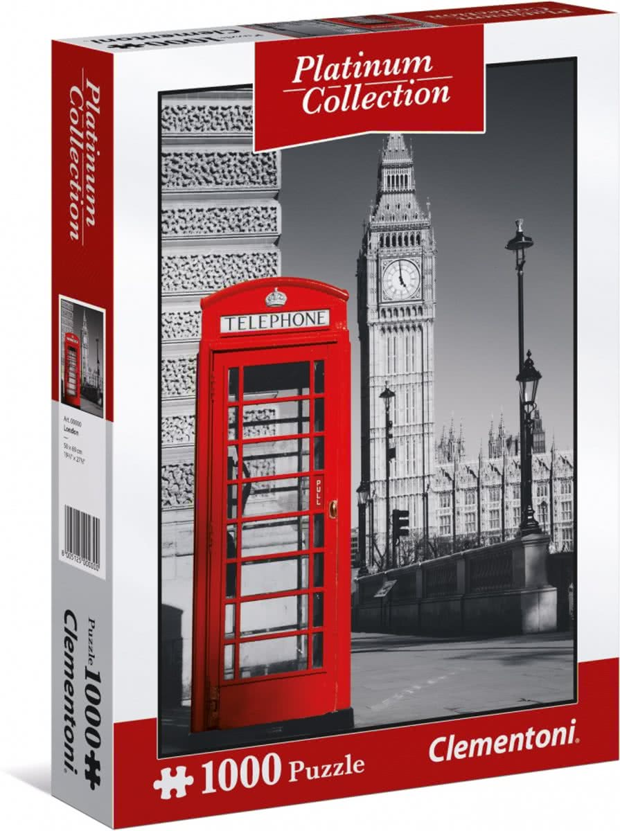Clementoni legpuzzel Platinum Collection - Londen 1000 stukjes