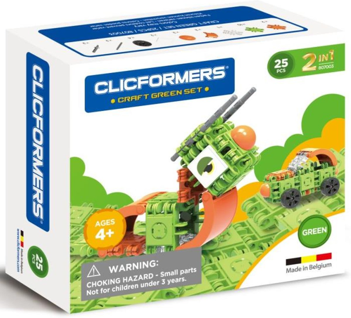 Clicformers - Craft Set Green - 25 pcs