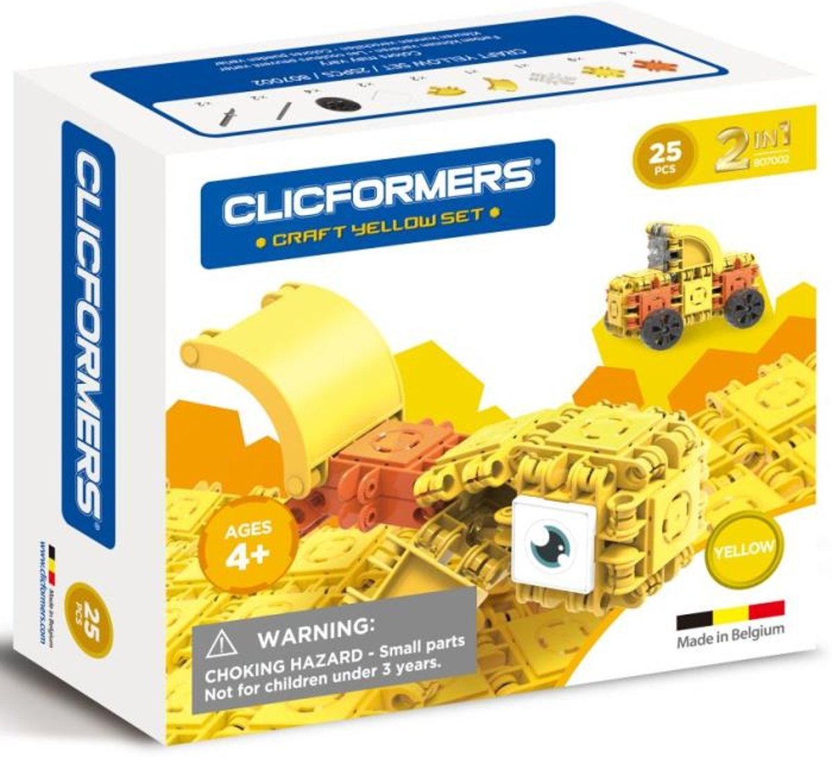 Clicformers - Craft Set Yellow - 25 pcs