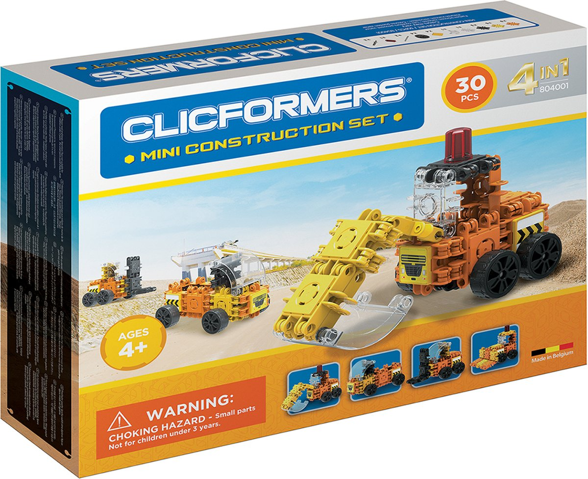 Clicformers - Mini Construction Set - 30 pcs
