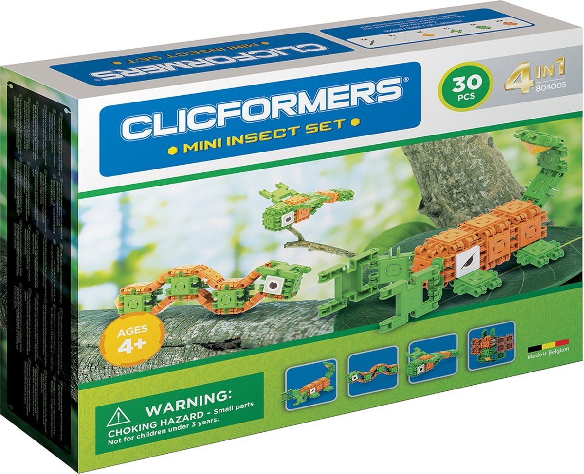 Clicformers - Mini Insect Set - 30 pcs