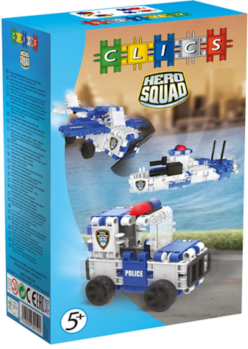 Clics Hero Squad Politie Box 3 In 1