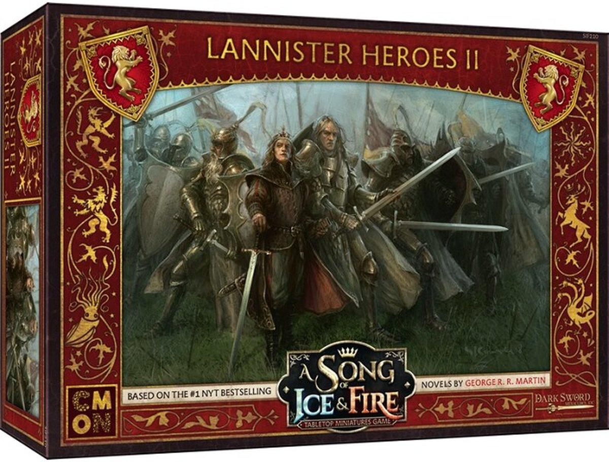 A song of ice and fire Miniatures Game Lannister Heroes 2 expansion