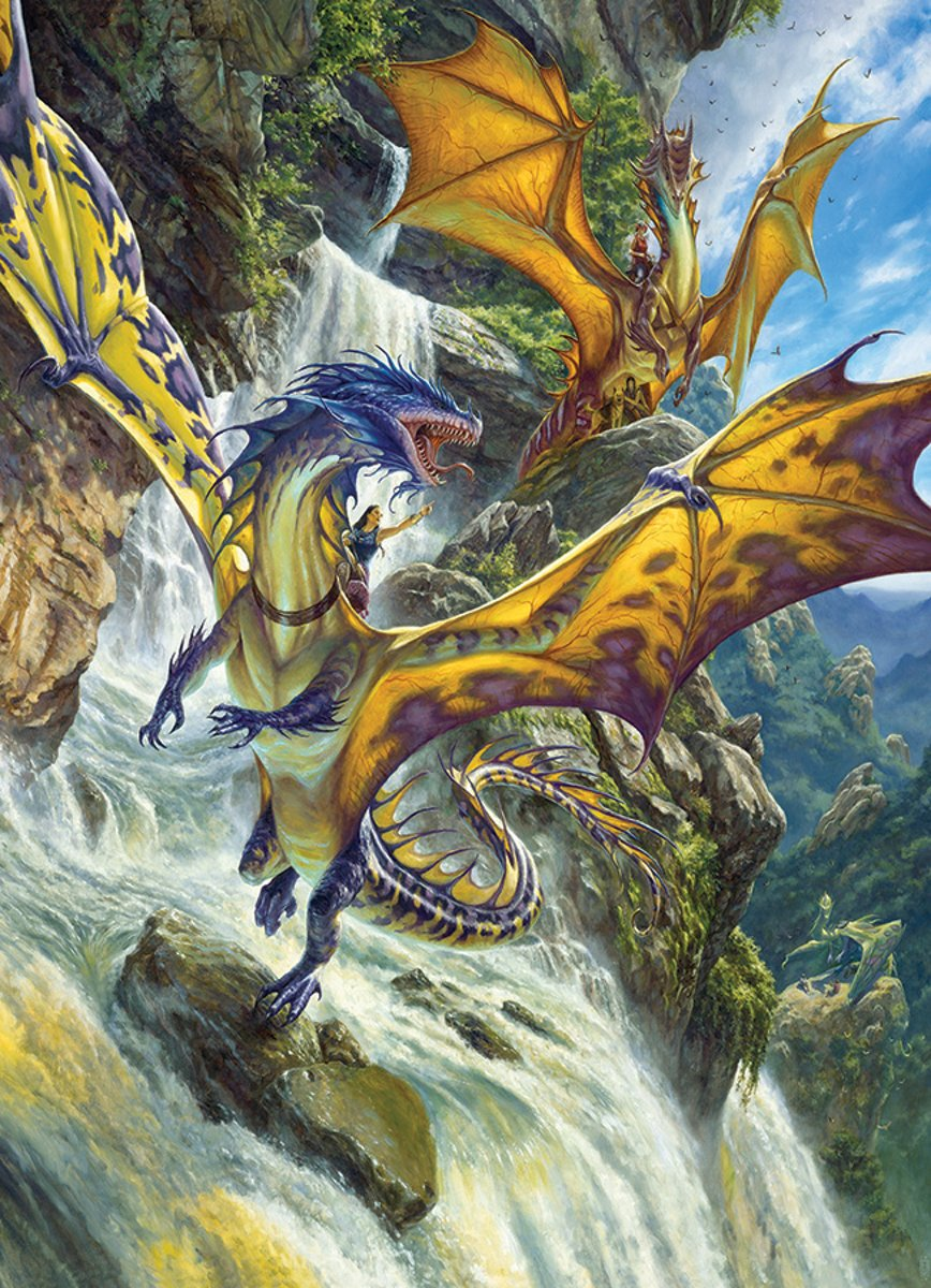 Cobble Hill puzzle 1000 pieces - Waterfall Dragons