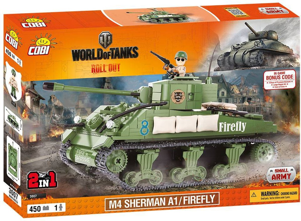 Cobi - Small Army World of Tanks - M4 SHERMAN A1 / FIREFLY 2in1 (3007)