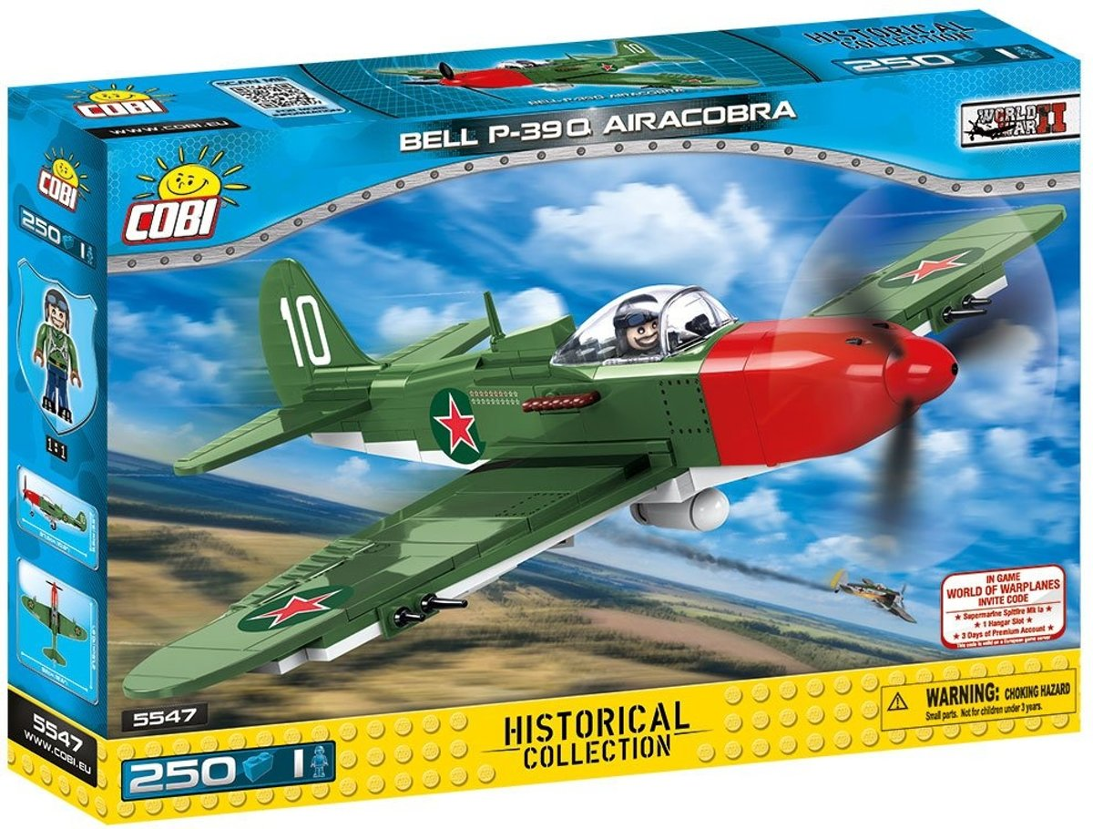 Cobi 250 Pcs Small Army /5547/P-39 Q Airacobra White 10