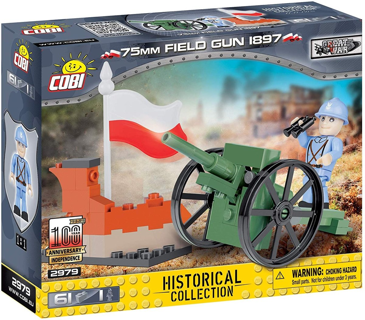 Cobi 61 Pcs Small Army /2979/ 75Mm Field Gun 1897