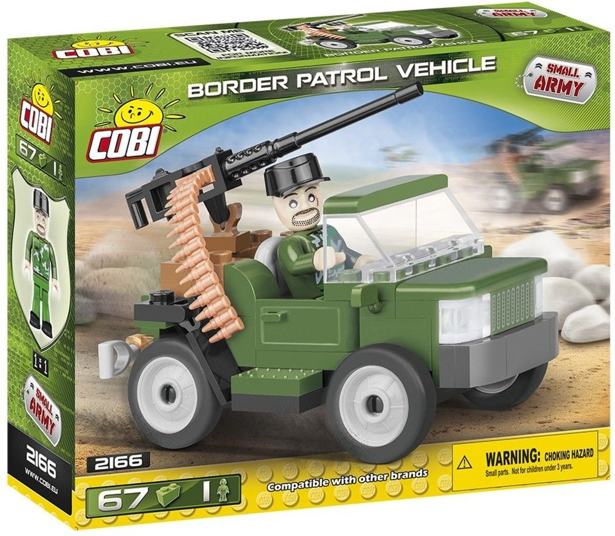 Cobi 67 Pcs Small Army /2166/ Border Patrol Vehicle