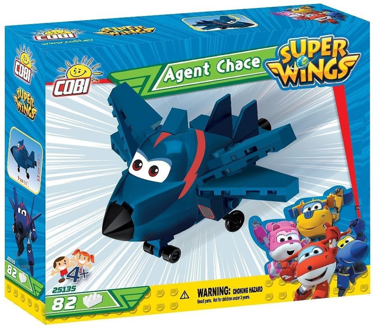 Cobi 80 Pcs Super Wings /25135/ Agent Chase
