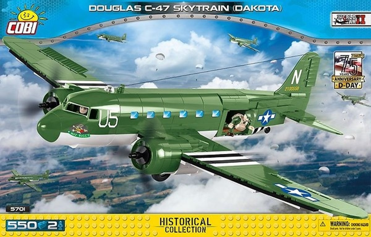Cobi Historical Collection Bouwset Douglas C-47 Dakota 552-delig