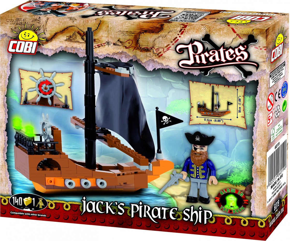 Cobi Pirates Bouwset Jacks Pirate Ship 141-delig (6019)