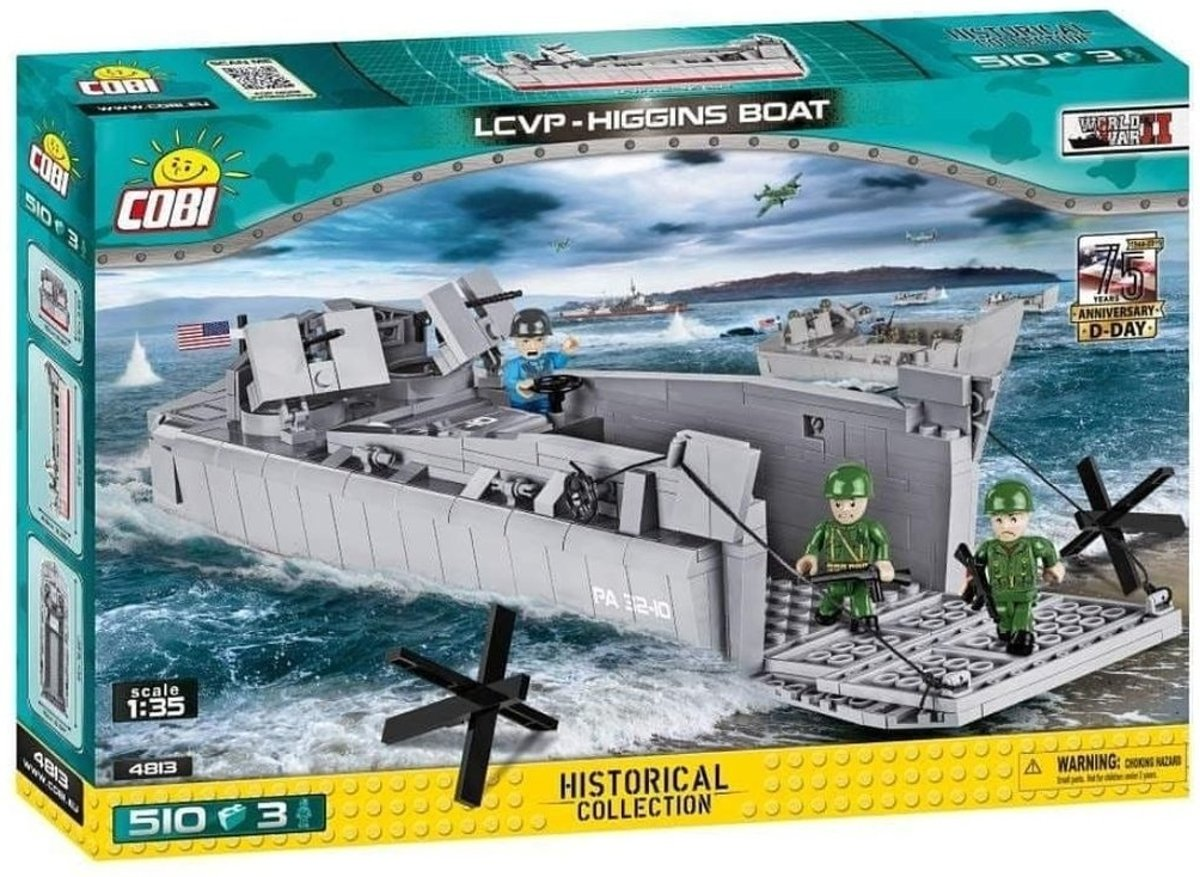 Cobi Small Army /4813/ Ws D-Day-Lcvp 500 Pcs