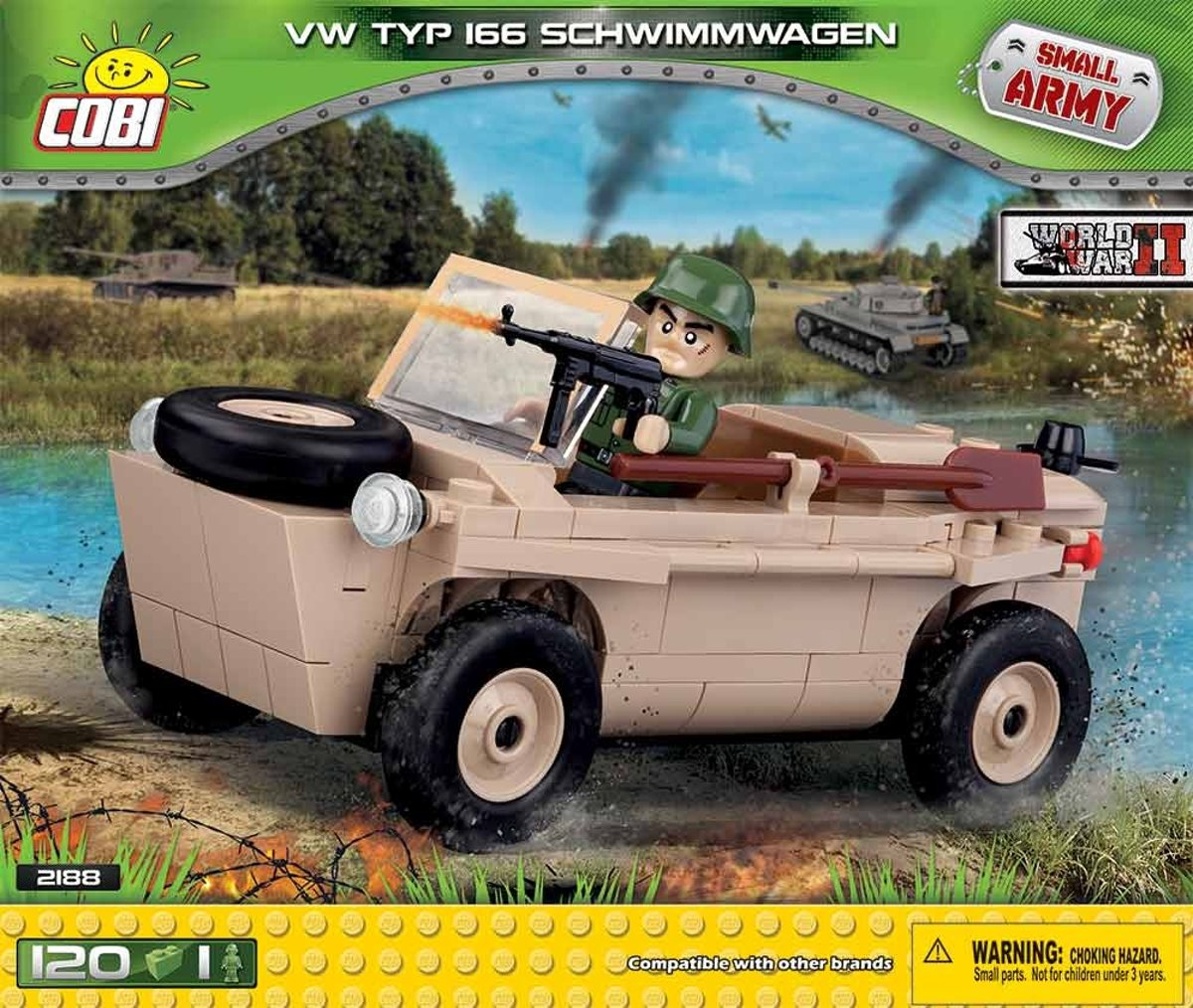 Cobi Small Army Bouwset Vw Schwimmwagen Typ 166 122-delig 2188