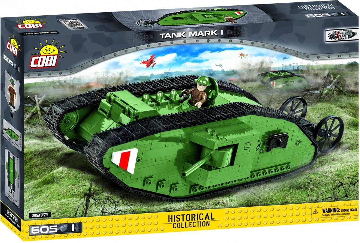 Cobi Small Army Hc Tank Mark I (2972)