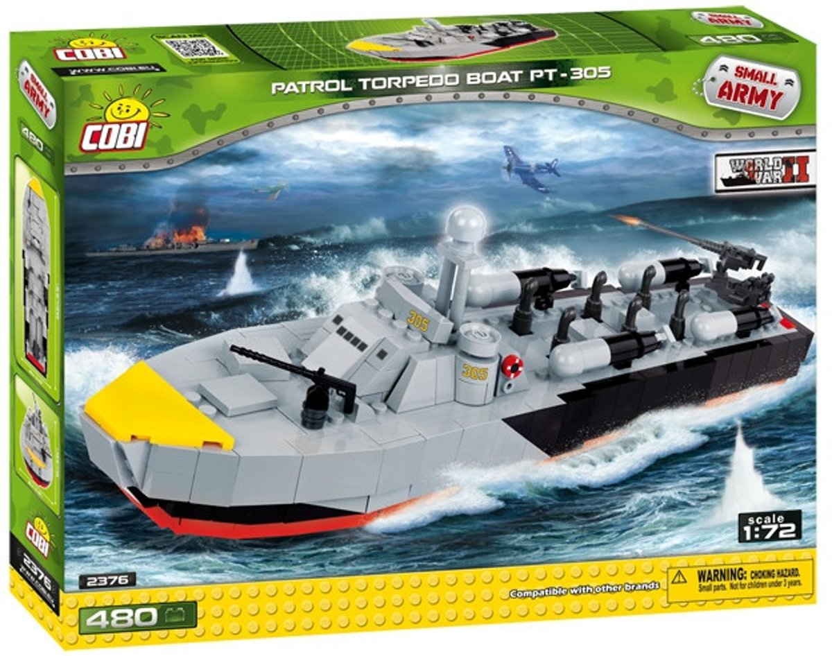 Cobi Small Army Patrol Torpedoboot Bouwset 480-delig 2376