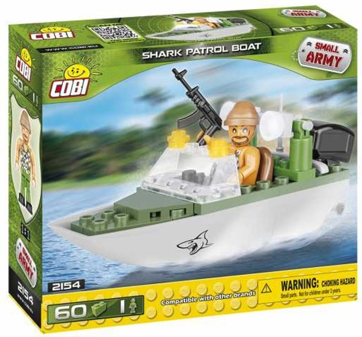 Cobi Small Army Shark Patrol Boat Bouwset 60-delig 2154