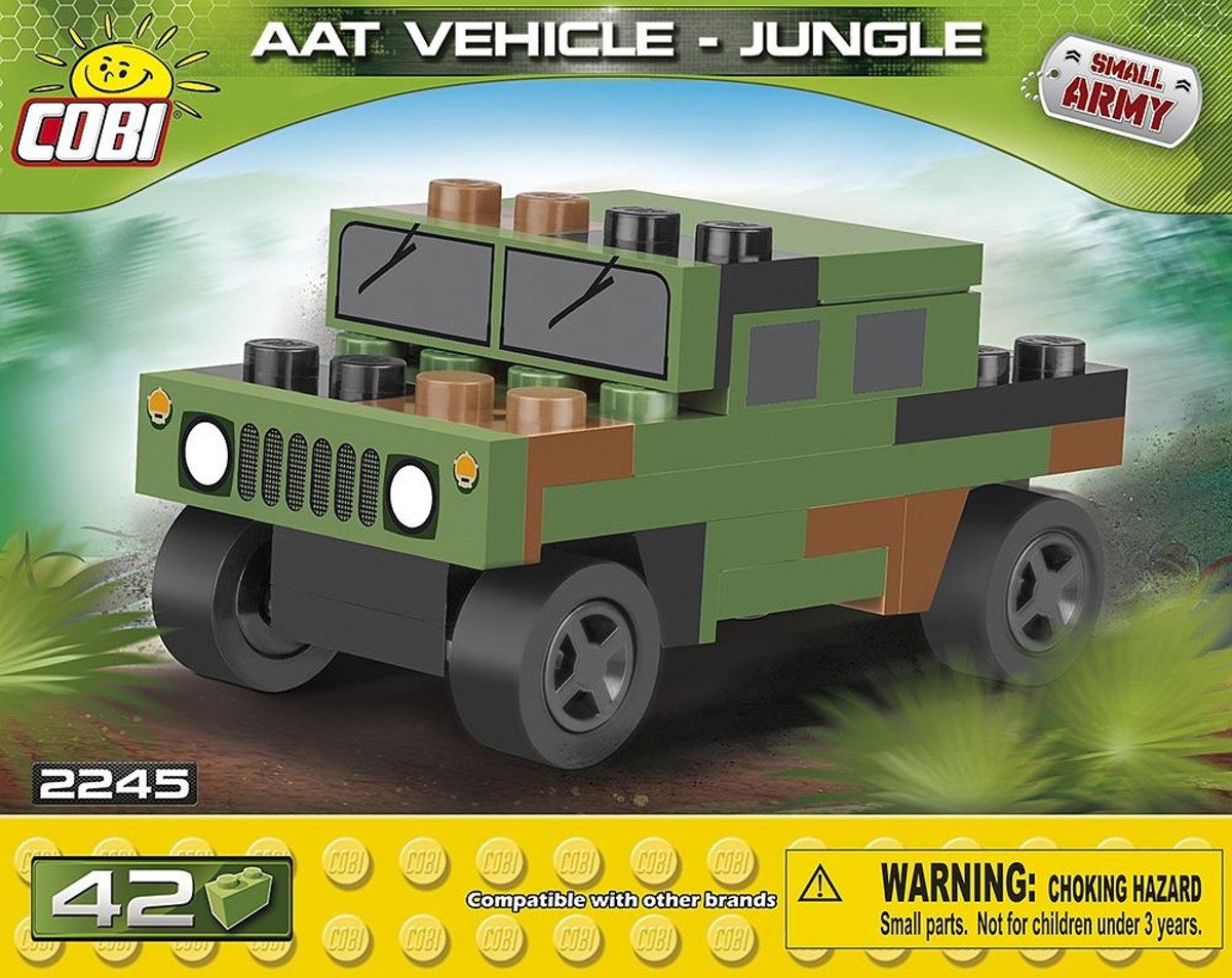 Cobi Small Army Tank Vehicle Jungle Bouwset 42-delig 2245