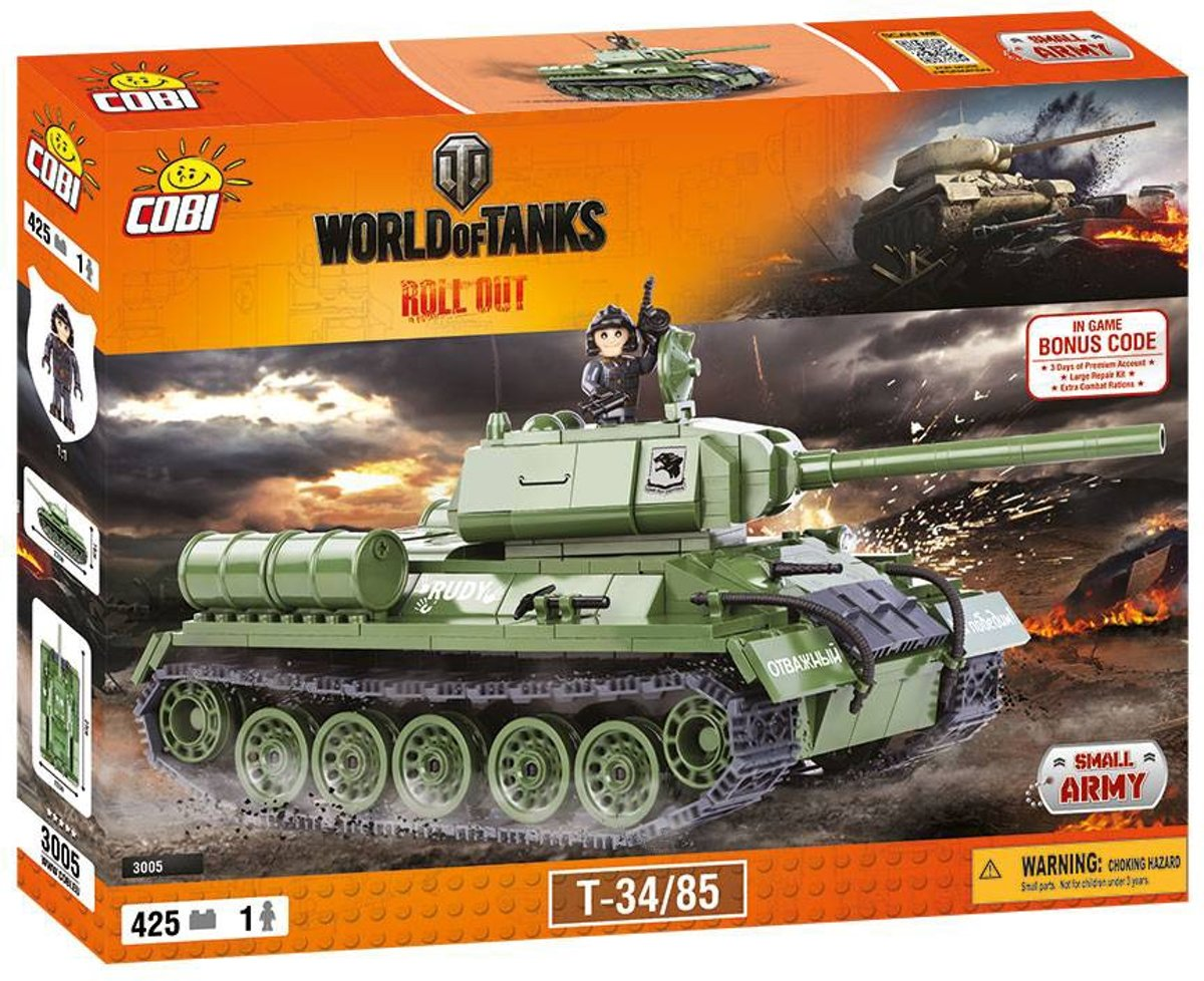 Small Army World of Tanks - T-34/85 (3005)Cobi