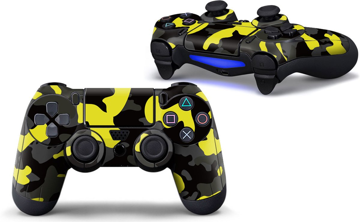 Army Camo / Geel Zwart - PS4 Controller Skins PlayStation Stickers