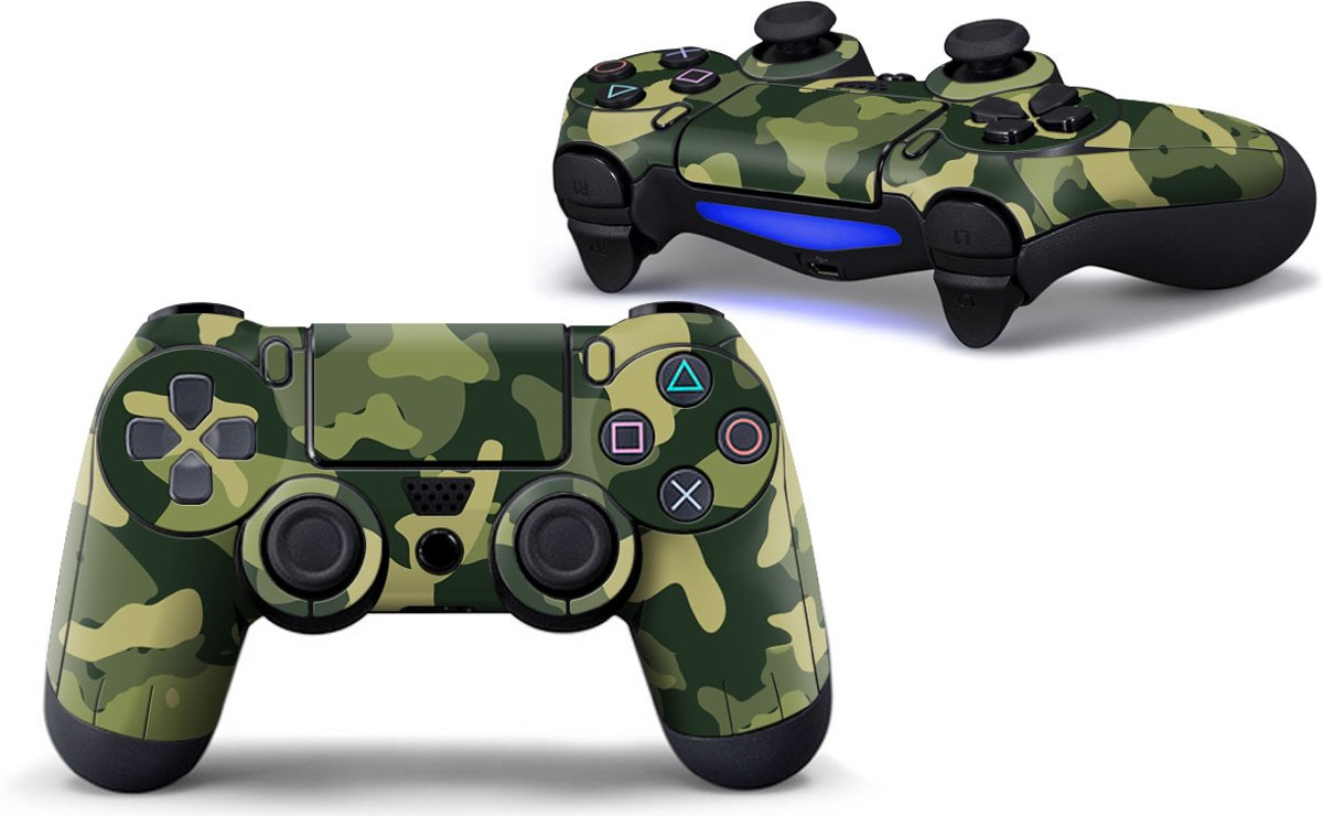 Army Camo / Groen Zwart - PS4 Controller Skins PlayStation Stickers