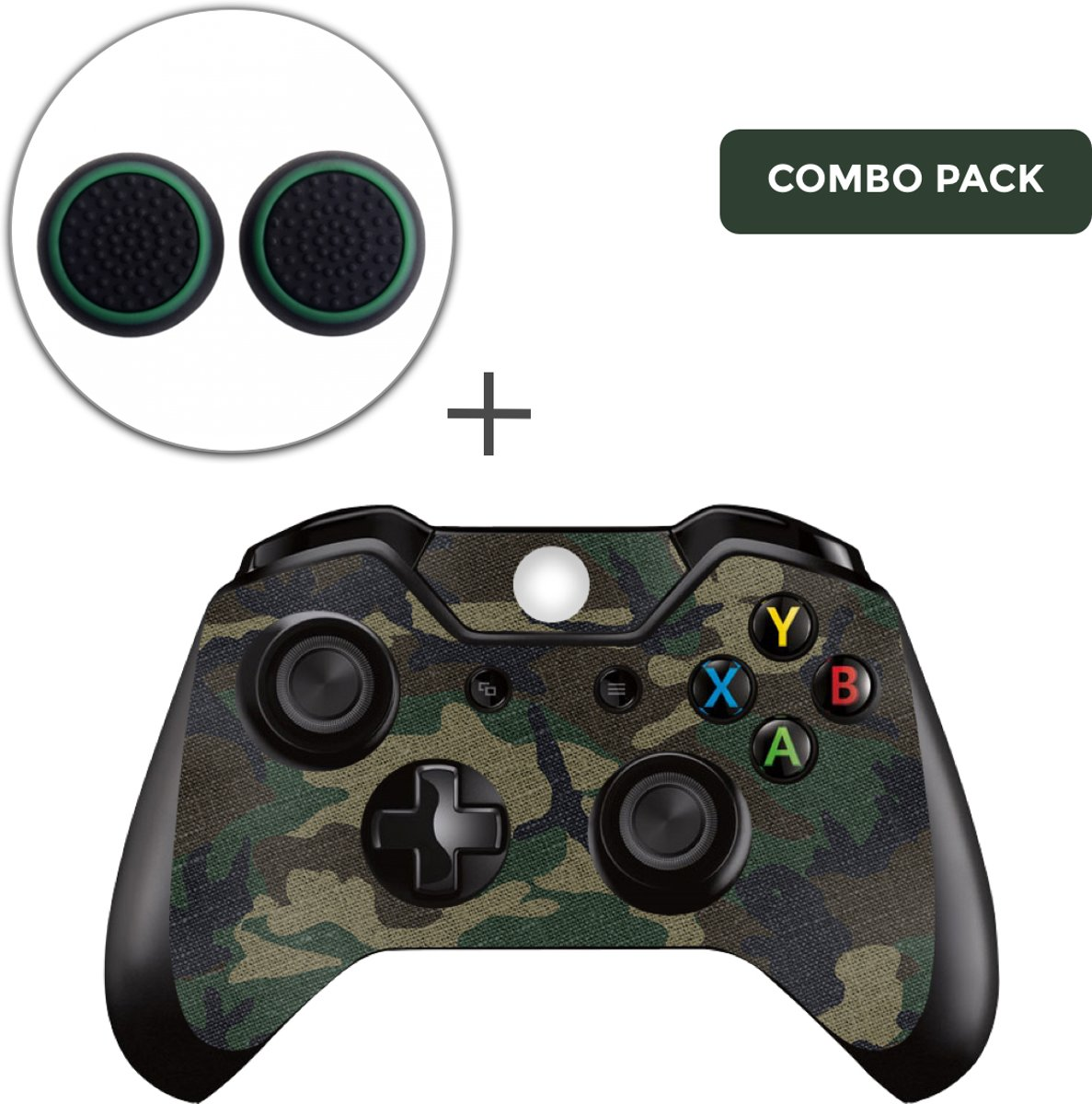 Army Camo Combo Pack - Xbox One Controller Skins Stickers + Thumb Grips