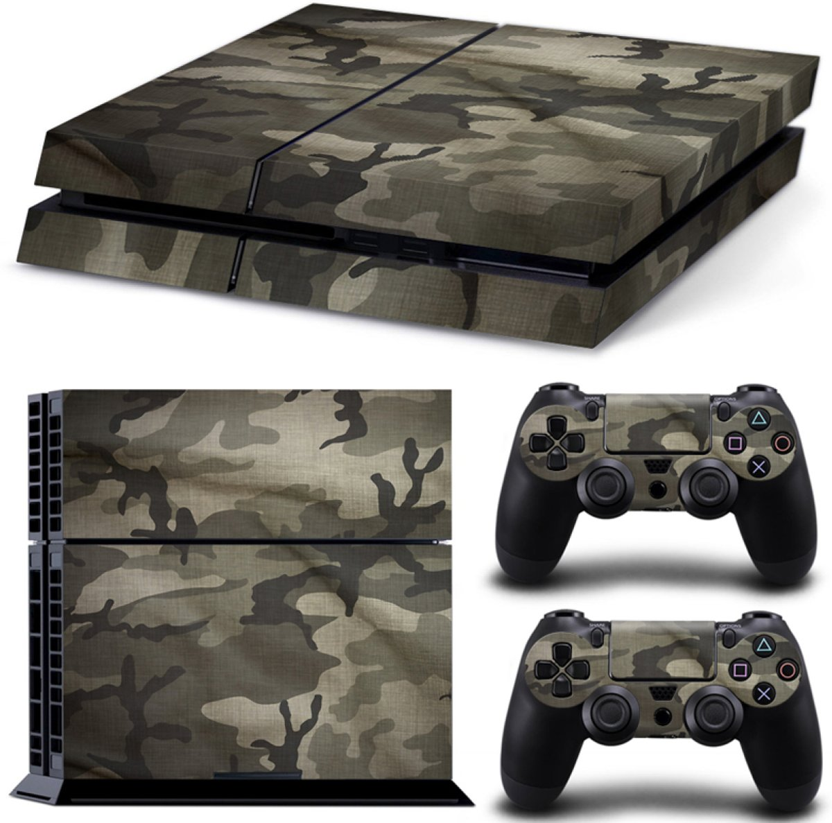 Army Camo Flecktarn - PS4 Console Skins PlayStation Stickers