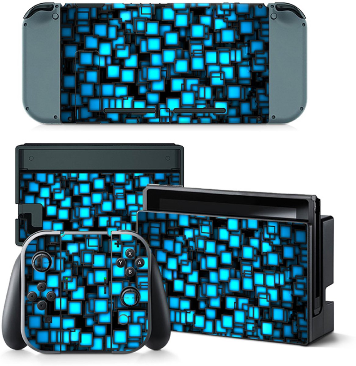 Blue Boxes - Nintendo Switch Skins Stickers