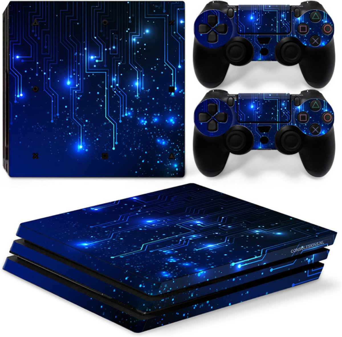 CPU / Blauw - PS4 Pro Console Skins PlayStation Stickers