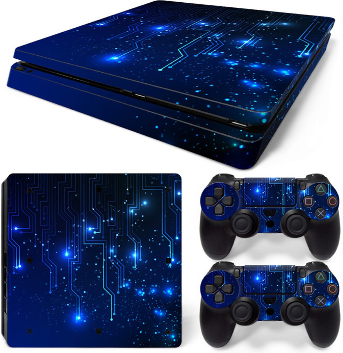 CPU / Blauw - PS4 Slim Console Skins PlayStation Stickers