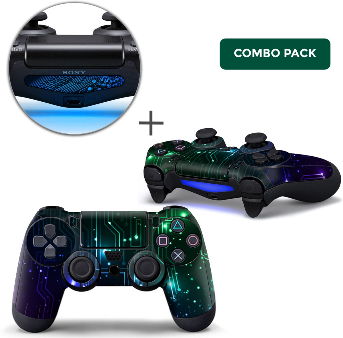 CPU / Mix Combo Pack - PS4 Controller Skins PlayStation Stickers