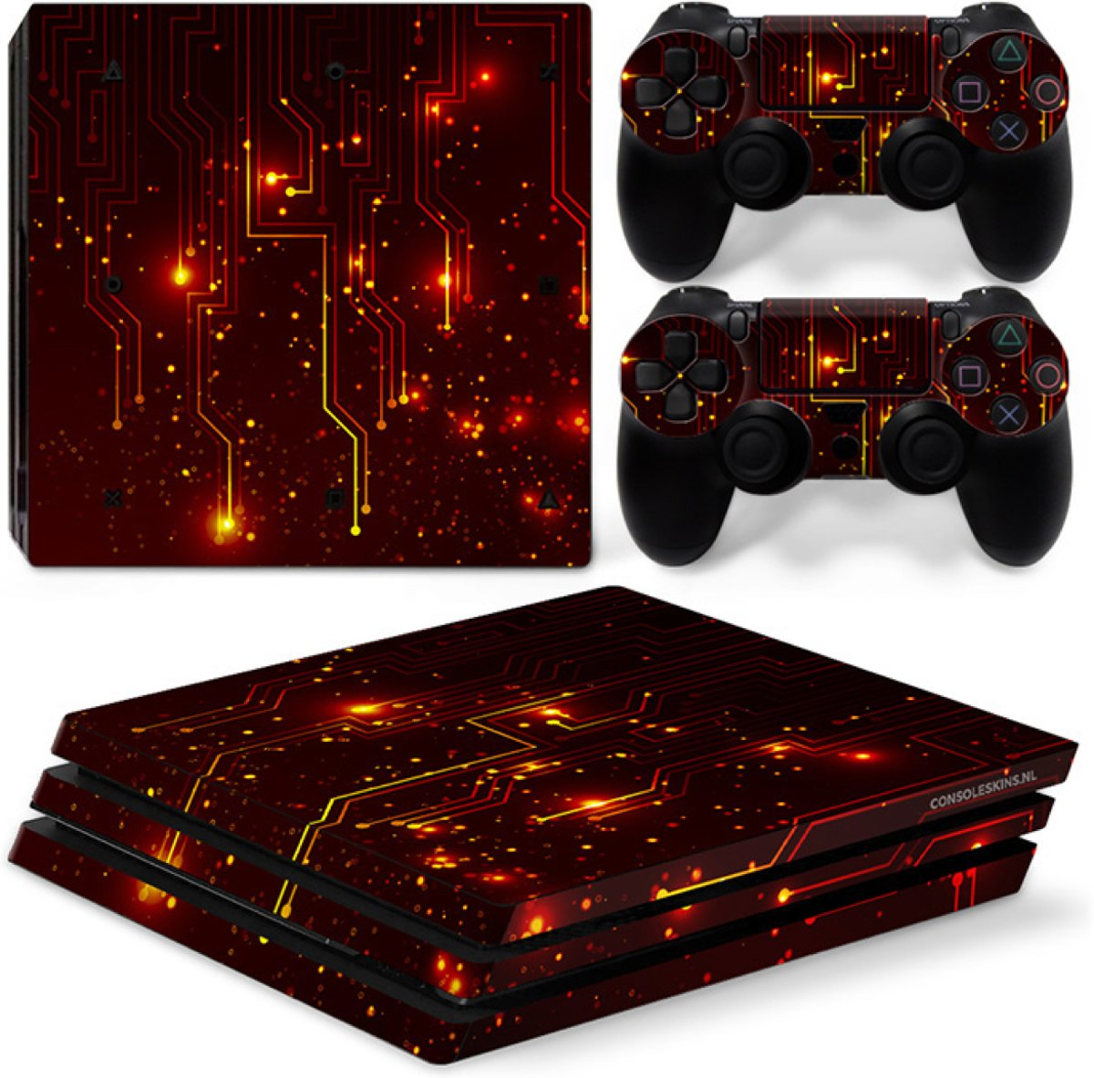 CPU / Rood - PS4 Pro Console Skins PlayStation Stickers