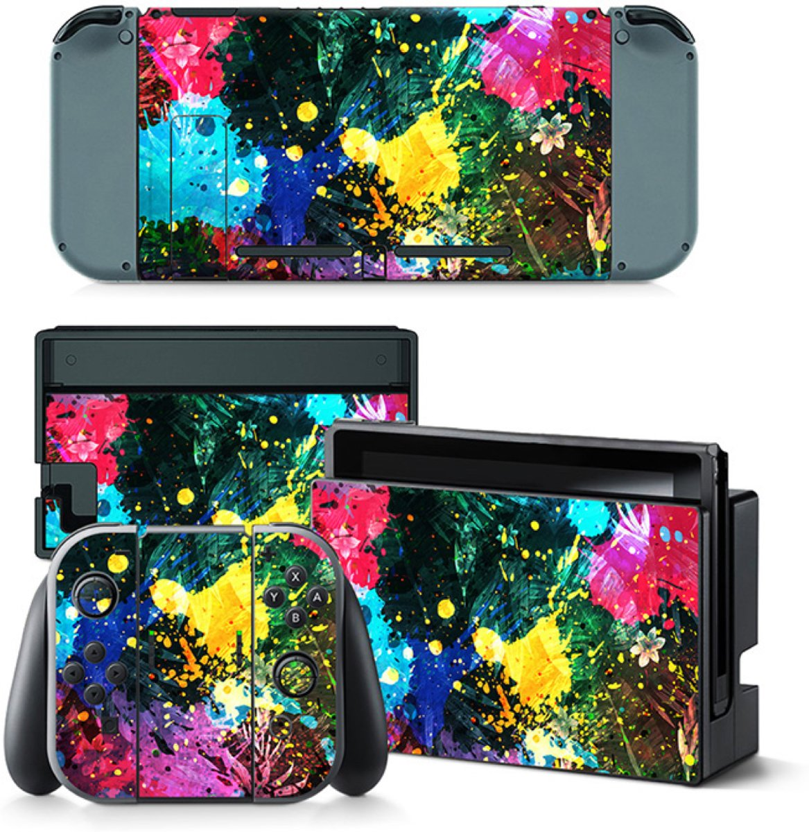 Color Splash - Nintendo Switch Skins Stickers
