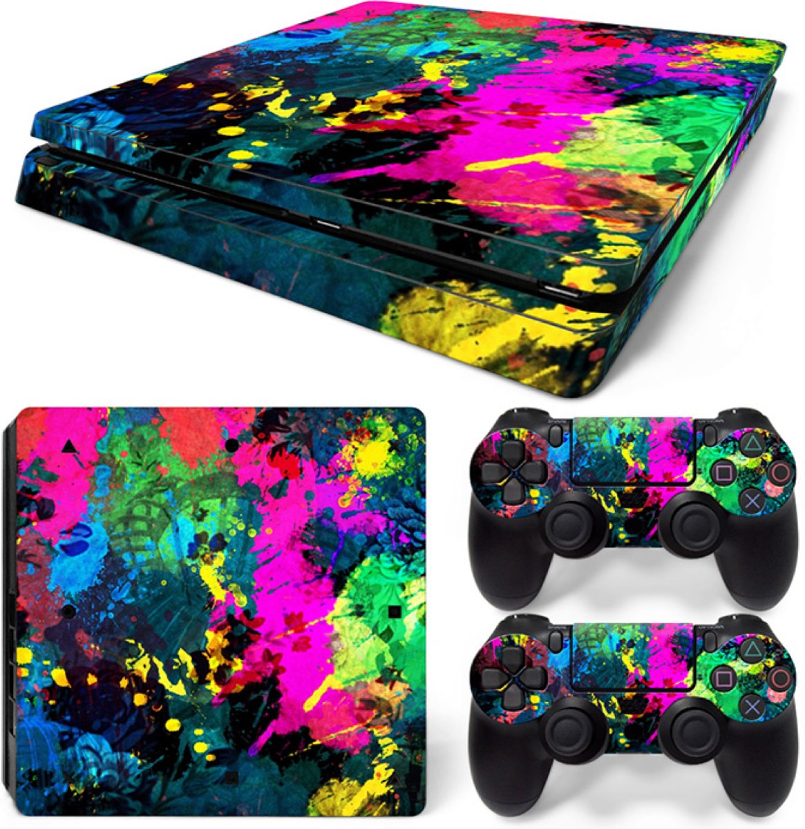 Color Splash - PS4 Slim Console Skins PlayStation Stickers