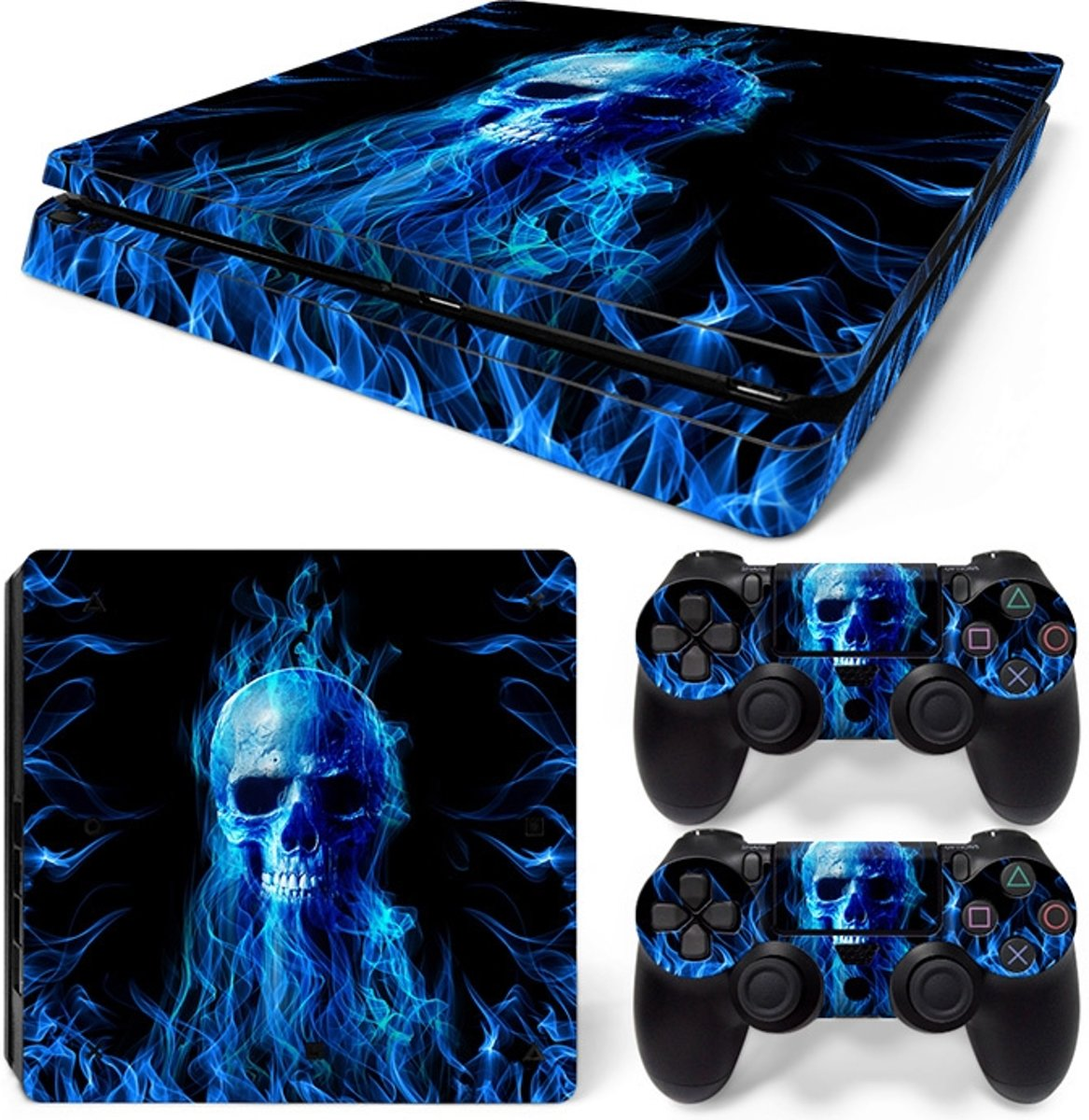 Fire Skull - PS4 Slim Console Skins PlayStation Stickers
